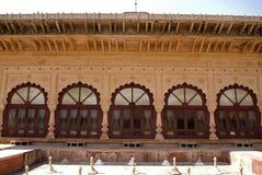 Waterpaleis, Deeg, Rajasthan, India stock foto's