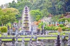 Waterpaleis van Tirta Gangga in Oost-Bali Stock Afbeeldingen