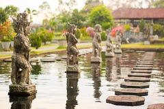 Waterpaleis van Tirta Gangga in Oost-Bali, Karangasem, Indonesië royalty-vrije stock afbeeldingen
