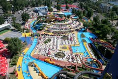 waterpark arkivfoton