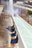 ????, ??????? - 14-?? ??? 2012: ?????? ?? waterpark Стоковое Фото