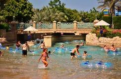 Waterpark Aquaventure Атлантиды гостиница ладони Стоковое Изображение