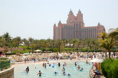 Waterpark of Atlantis the Palm hotel Stock Photo