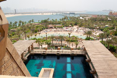 Waterpark of Atlantis the Palm hotel Stock Photography