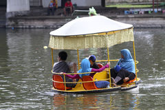 Waterpark. Citizens on vacation in a waterpark in the city of Solo, Central Java, Indonesia Royalty Free Stock Images
