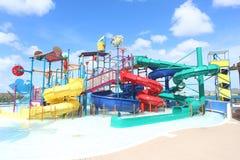 Waterpark d'île-hôtel de paume dans Aruba Photos stock