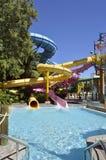 Waterpark d'Aquatica de glissières d'eaux de bain de foule Photos libres de droits
