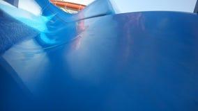 Waterpark de la piscina del verano del práctico de costa del agua de Aquapark almacen de video