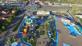 Waterpark DON Park Rússia Região de Rostov Bataysk video estoque