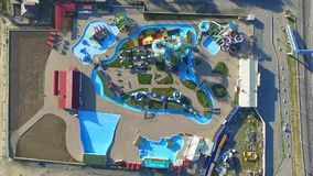 Waterpark DON Park Rusland Het gebied van Rostov Bataysk stock video
