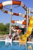 Waterpark e corrediças Imagens de Stock Royalty Free