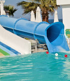 Waterpark et glissières Photographie stock libre de droits