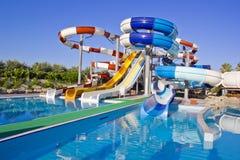Waterpark et glissières Images libres de droits