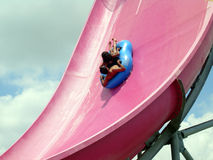 Waterpark Fun. A fun slide at the water park Royalty Free Stock Images
