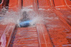 Waterpark fun. Families  fun in local waterpark on holidays in Europe Royalty Free Stock Photos