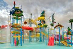 Waterpark in luxury tropical resort Stock Image