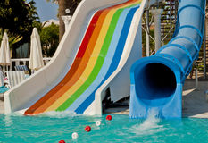 Waterpark and Slides Stock Photo