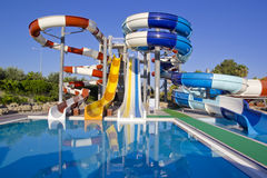 Waterpark and Slides Stock Photos