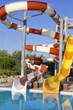 Waterpark y diapositivas Imágenes de archivo libres de regalías