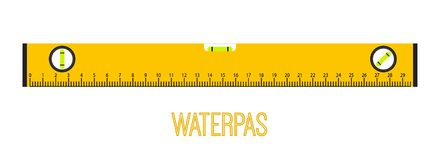 Waterpas, measurement instrument, measuring equipment. Cartoon flat style. Vector illustration. Waterpas, measurement instrument, measuring equipment. Made in Stock Photo