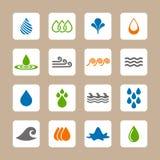 Waterpictogrammen Stock Afbeelding