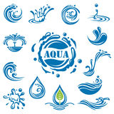 Waterpictogrammen stock illustratie