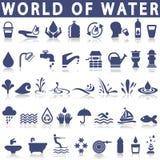 Waterpictogrammen Stock Afbeeldingen