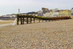 Waterpijp op het strand Royalty-vrije Stock Afbeeldingen