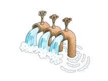 Waterpipe ilustração do vetor