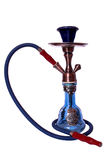 Waterpipe. Blue Waterpipe from Turkey used to smoke in white background Royalty Free Stock Photo