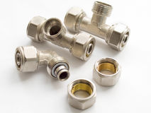 Waterpipe connectors Stock Image