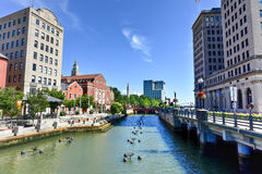 Waterplace Park - Providence, Rhode Island stock images
