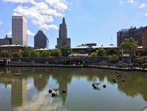 Waterplace Park, Providence, RI Royalty Free Stock Photos