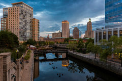 Waterplace Park in Providence Royalty Free Stock Image