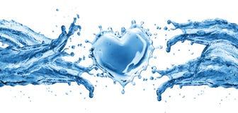 Waterplons in de vorm van een hart vector illustratie