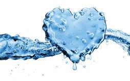 Waterplons in de vorm van een hart royalty-vrije illustratie