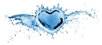 Waterplons in de vorm van een hart stock illustratie