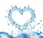 Waterplons in de vorm van een hart Royalty-vrije Stock Fotografie