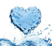 Waterplons in de vorm van een hart Stock Afbeeldingen