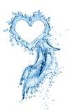 Waterplons in de vorm van een hart Royalty-vrije Stock Afbeeldingen
