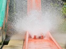 Waterplons in het waterpark royalty-vrije stock foto's