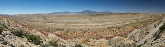 Waterpocket fold. Panoramic view of the waterpocket fold in capitol reef royalty free stock images