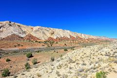The Waterpocket Fold in Capitol Reef National Park, USA. The Waterpocket Fold in Capitol Reef National Park, Utah, USA royalty free stock images