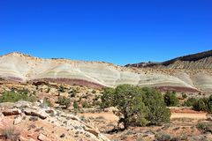 The Waterpocket Fold in Capitol Reef National Park, USA. The Waterpocket Fold in Capitol Reef National Park, Utah, USA royalty free stock photo