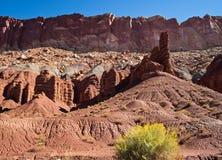 Waterpocketvouwen in Utah stock afbeelding