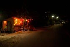 Waterpoel in de duisternis Royalty-vrije Stock Foto