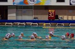 waterpolo команды moscow динамомашины Стоковая Фотография