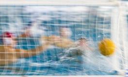 Waterpolo-Aktion Stockfoto