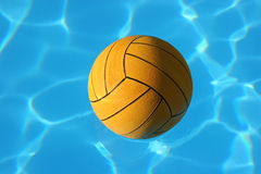 Waterpolo ball in pool stock photography
