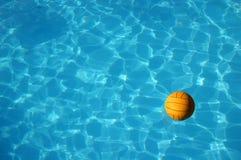 Waterpolo ball in pool (2). Waterpolo ball in pool stock image